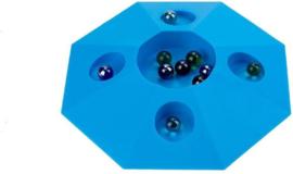 Knikkerpot groot met 10 knikkers Blauw