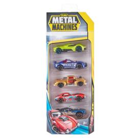 Metal Machines Diecast Auto's 5 Pack Assorti