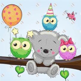 Crystal Art Kaart Birthday Friends