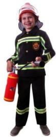 Brandweer Outfit Zwart Maat 164