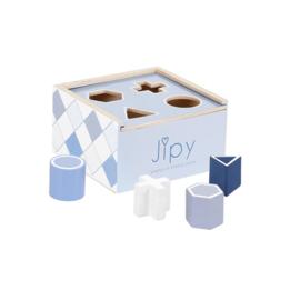Jipy houten vormenstoof Blauw