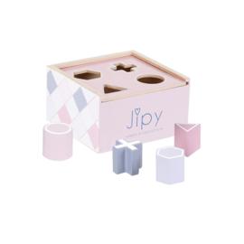 Jipy Houten Vormenstoof Roze