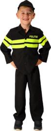 Politiepak met Fluorstrepen Maat 140