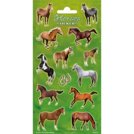 Stickers Paarden Groen