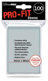 SLEEVES PRO-FIT CLEAR STANDARD