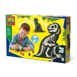 SES T-Rex Met Skelet Gips Gieten en Schilderen