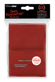 SLEEVES RED SOLID 100