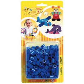 Maxi Strijkkralen Blauw 250 stuks