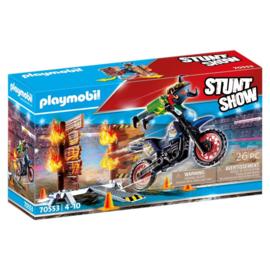 Playmobil 70553 Stuntshow Motor met Vuurmuur