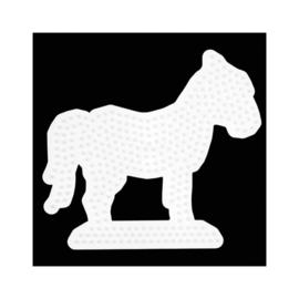 Strijkkralen Grondplaat Paard Wit