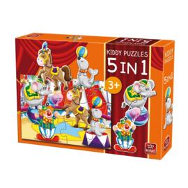 Kinderpuzzel 5 in 1 Het Circus