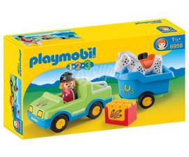 Playmobil 123 Wagen met Paardentrailer