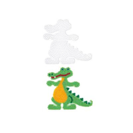 Strijkkralen grondplaat Krokodil