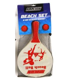 BeachBal set Luxe Hout Assorti
