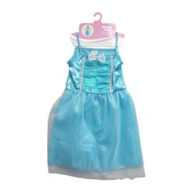 Blauwe Prinsessenjurk  6-8 jaar