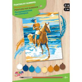 Schilderen op nummer Paardrijdster
