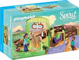 PLAYMOBIL Spirit Pru & Chica Linda met paardenbox - 9479