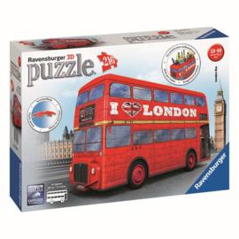 Puzzel 3D London Bus Rood