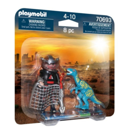 Playmobil 70693 Duopack Velociraptor Vs. Stroper