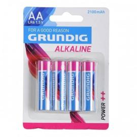 Batterij AA Grundig Alkaline 2100MAH 4 Stuks