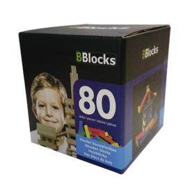 BBlocks Gekleurde  Houten Bouwplankjes 80-delig