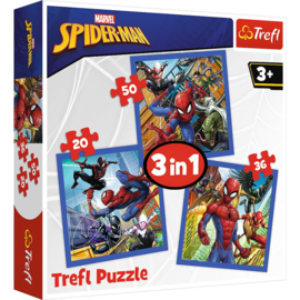 Puzzel 3 in 1 Spiderman