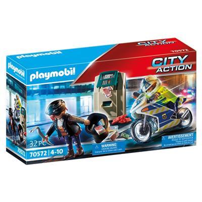 Playmobil 70572 Politiemotor : Achtervolging Van de Geldrover