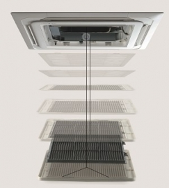 Elevetion grille voor plafond cassette units