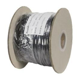 Soepele zwarte rubberkabel 2 x 0,75 voor buitengebruik, rol 50m