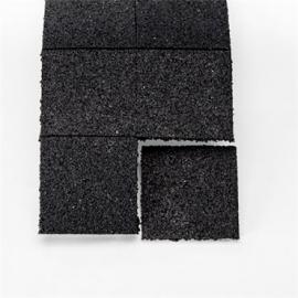 Wagner rubber antitril-matje 10x10x1cm ( per stuk )