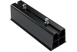 Montagebalk van hard PVC, lengte 450mm  ( set )