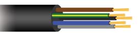 KIT H07RN 5X1,5 rubberkabel lengte 5,15 meter