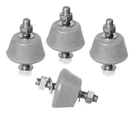 Vibratiedempers, grijs soft voor buitenunits.per set van 4 stuks