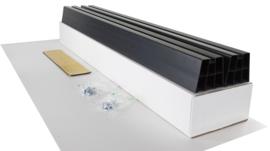Montagebalk van hard PVC, lengte 1000mm  ( set )