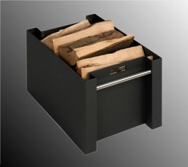 Lichtgewicht aluminium houtbak met RVS handgrepen