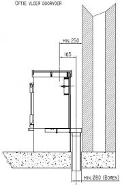 Adaptorset externe luchtaanvoer t.b.v. JAcobuskachel