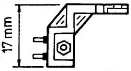 National adapter T-4P naar 0.5 inch schroefmontage headshell = Tonar 3125