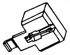 Sony ND127 P / VX23 P rood pick-upnaald = Tonar 532 Diamant Stereo