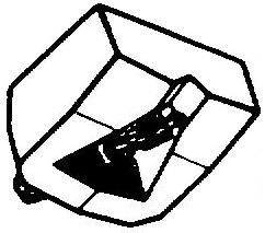 Goldring G-800 wit pick-upnaald = Tonar 352 Diamant Stereo