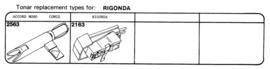Rigonda pick-upelementenoverzicht Tonar
