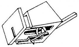 Acutex 206 II wit pick-upnaald = Tonar 6215 Diamant Stereo