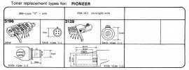 Overige typen headshells Pioneer: Tonar-vervangers