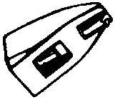 Lenco OMB20 zwart pick-upnaald =Tonar 1253 ORIGINEEL