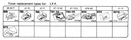 Overige typen I.T.T.: Tonar-vervangers