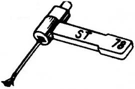 BSR ST4 pick-upnaald = Tonar 50 Saffier Normaal 78-Toeren / Diamant Stereo