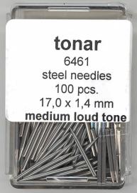 Stalen naald medium loud tone 17.0 mm / 1.4 mm doosje 100 stuks