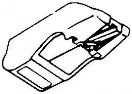 Brandt QLM30 MKII grijs pick-upnaald = Tonar 1229