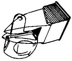 Ortofon Stylus Dual DN 150 E zwart pick-upnaald = Tonar 1286