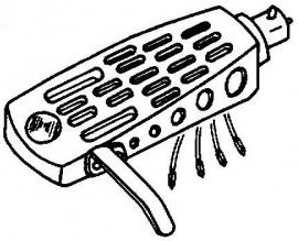 BSR 500 Quanta A-114990 SME zwart headshell = Tonar 3197