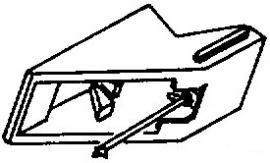 Brandt zwart pick-upnaald = Tonar 935 Diamant Stereo